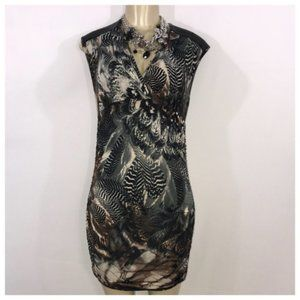 Brown & Black Sexy Party Dress Juniors Large